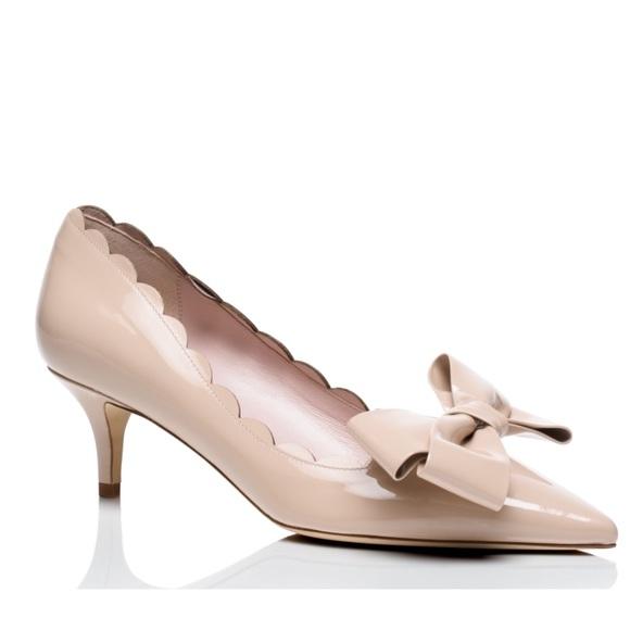 0ae0ef0c8b92 kate spade Shoes - Nude Kate spade Maxine scalloped kitten heels